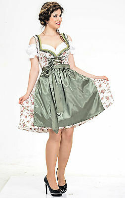 Germany,German,Trachten,May,Oktoberfest,Dirndl Dress,3-pc.Sz.18.Pale Green