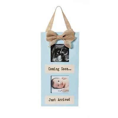 Buttons & Bows Coming Soon/Just Arrived Sonogram and Photo Frame - Blue