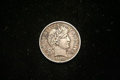 1903 Barber Dime , US Coin , XF, Full Liberty!