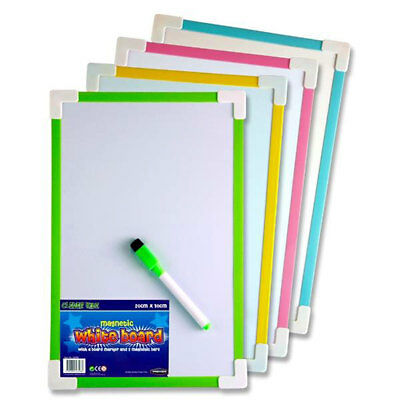 Children Kids whiteboard dry wipe clean board magnetic back with dry wipe marker