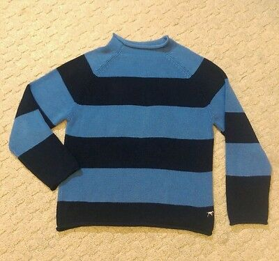 Crewcuts J. Crew boys tennager navy and blue knit sweater sz 2xl 100% cotton