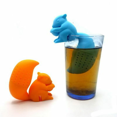 Cute Squirrel Strainer Filter Diffuser Tea Infuser Cup Mug Herbal Spice