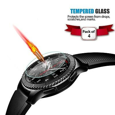 Sports Smart Watch Fitness Gear S3 Frontier Glass Screen Protector HQ Pack of 4