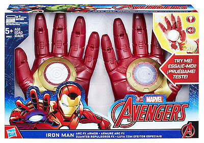 Avengers Marvel Guanti Iron Man ARC Armor Accessorio Costume Carnevale Cosplay
