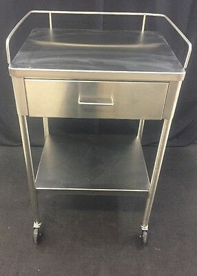 CAMTEC Stainless Steel Rolling Surgical Instrument/Dressing Stand Single Drawer