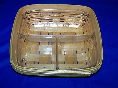 Longaberger 3 Way Divided Tray Protector 41327 In Basket Mint Condition