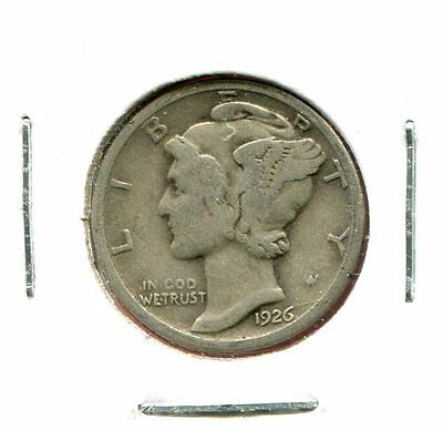 1926 P Mercury/Liberty Head 90% Silver Dime  (Combined Shipping $2.95)