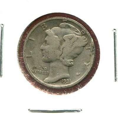 1931 S Mercury/Liberty Head 90% Silver Dime  (Combined Shipping $2.95)