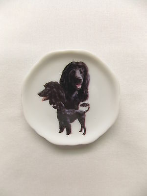 Portuguese Water Dog 3 View Porcelain Plate Magnet Fired Decal- 64