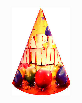 20, 30, 50 Pack Happy Birthday slogan Party Paper Cone Hats Party