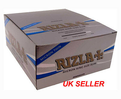 Rizla Silver Micron King Size Slim Ultra Thin Tobacco Rolling Paper Booklets