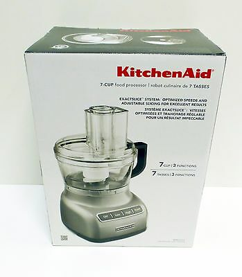 KitchenAid 7-Cup Food Processor 3 Functions KFP0711CU Brand New in Box