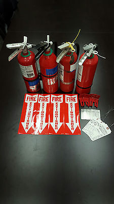 Fire Extinguisher 5lb ABC Includes Certification Tag (4) SCRATCH & DENT