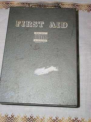 Vintage 60's First Aid Kit Box