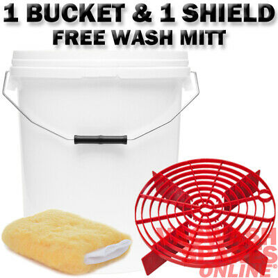 20L Wash Buckets And Barrier-Grit Guard-Scratch Shield-Wash Bucket System Mitt