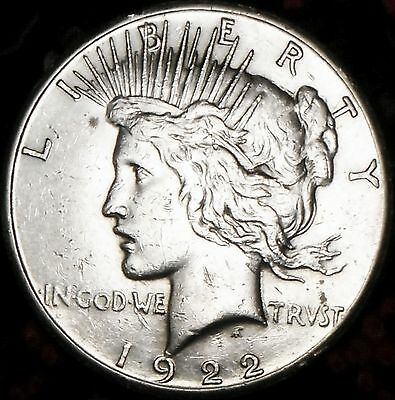 Free shipping  1922 S Peace Silver One Dollar Coin   L774