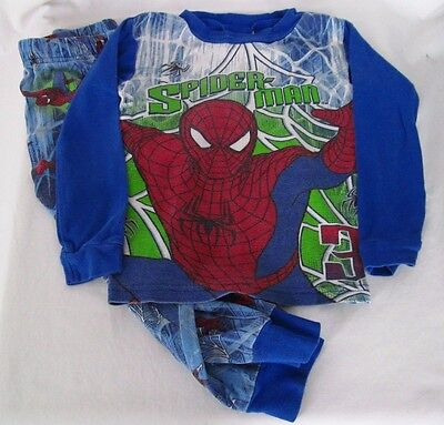 Spider-Man 3 Boy's Two-Piece Long Sleeve Cotton Pajamas Size 4