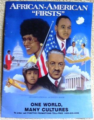 African-American Firsts Educational Activity Book
