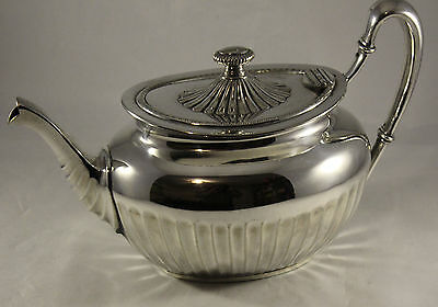 Antique Silver Plated WMF I/O Teapot With Fluted Sides & Lid Excellent Condition