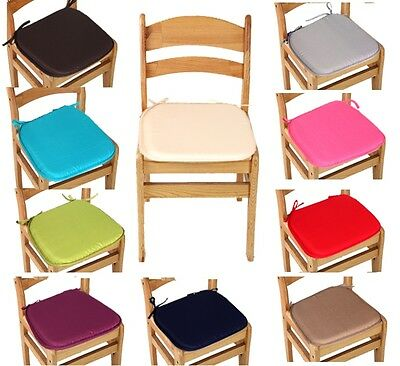 """Luxury Removable Chair Cushion Seat Pads With Ties Office Home Garden Use 14""""x14"""
