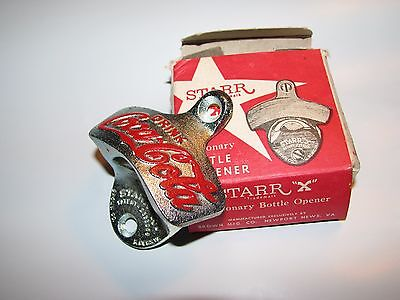 Authentic New Old Stock NOS Starr X Coca Cola Coke Stationary Bottle Opener Box