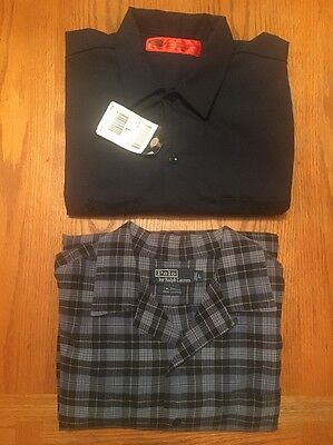 Lot Of 2 Men's Long Sleeve Shirts 1 Polo Ralph Lauren 1 Dickies Both Sz Large