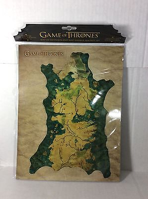 Game of Thrones Westeros Map and Markers Magnet Set HBO New Dark Horse Deluxe