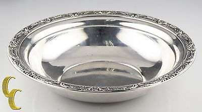 Reed & Barton Large Sterling Silver Bowl w/ Floral Rim X745 Minor Scratches
