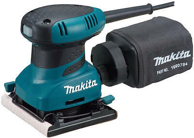 Makita BO4556 240v 1/4 sheet palm sander clamp style * 3 year warranty option *