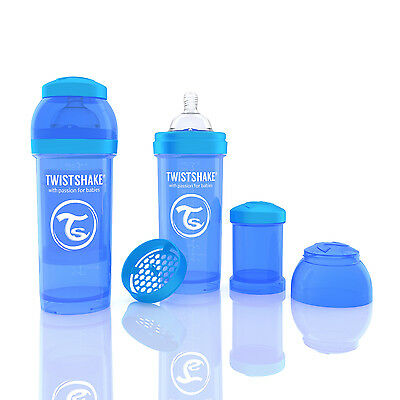 Twistshake Anti-Colic Baby Bottle (Blue) 260ml