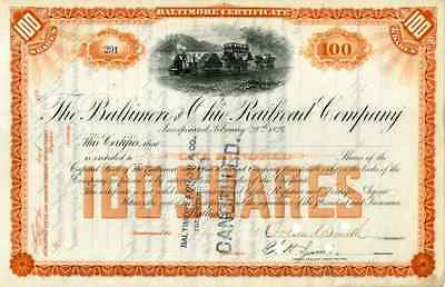 18__ Baltimore & Ohio RR Stock Certificate signed by Orland Smith