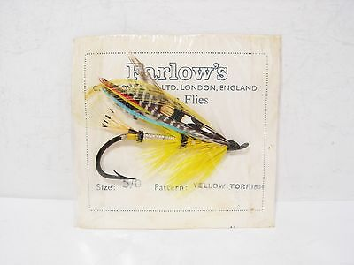 Vintage Antique Farlow Salmon Fly Size  5/0 Yellow Torrish New in Packet