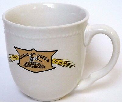 John Deere Licensed Product Collectible White Wheat Deer Ceramic Coffee Cup Mug