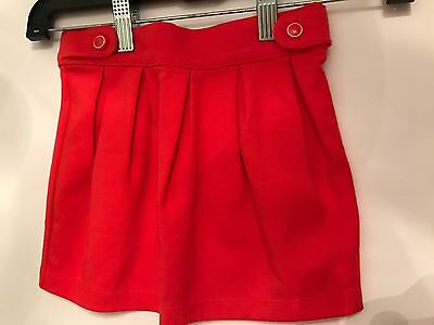New Gymboree Girls Size 4T 4 Solid Red Orange Skirt Spring NWT