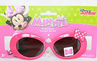 Disney Minnie Mouse Girls Sunglasses 100% UV Protection Pink Bow Kids Children