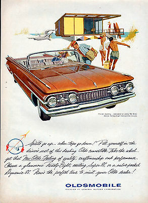 1959 Oldsmobile car ad ---98 Convertible Coupe --k6
