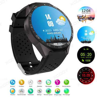 KW88 3G Smart Watch Android 5.1 4GB Bluetooth Heart Rate WIFI GPS SIM Phone Mate