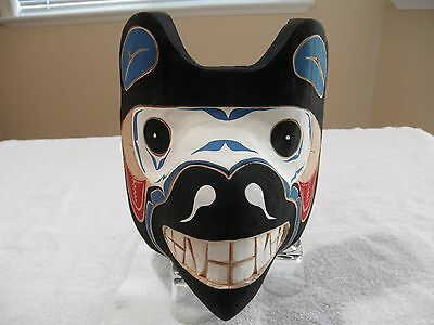 West Coast First Nations Native Art Carving Mask Signed Hubert Billy