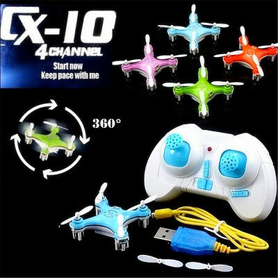 Cheerson CX-10 CX10 Quadcopter 2.4G 4CH 6-Axis Remote Control RC Helicopter Hot