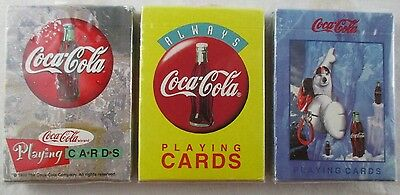 Coca Cola Playing Cards 3 Decks Factory Sealed
