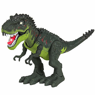 Walking Dinosaur T-Rex Tyrannosaus Moving Figure Light Sound Kids Boys Cool Toy