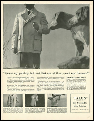 1946 vintage ad for Talon Clothing Fasteners