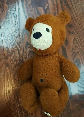 "1976 Animal Fair Inc Stuffed Plush Brown Bear 14"" Toy Henry's Friend"