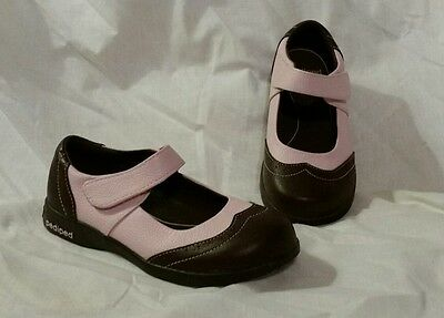Pediped Girl's Samantha size 29 Shoes Pink and Brown Mary Janes US 11