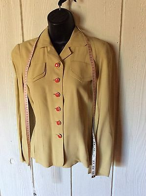 Women's Vintage 40s Classic Landgirl Easter? Yellow Red Buttons XS