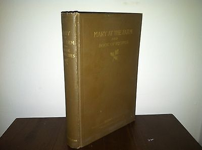 Mary at the Farm and Book of Recipes by Edith Thomas 1915 illustrated 1st ED
