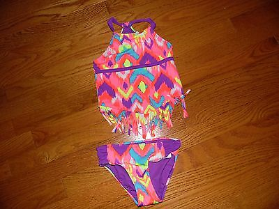 Girls Justice 2 Piece Swimsuit Size 7 NWOT
