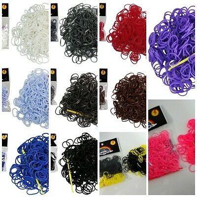 New 300pcs  Loom Band Rubber bands +Free S-Clips & Hook- Aus Stock