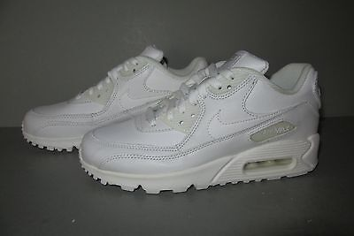 Boys' Grade School Nike Air Max 90 Running Shoes Size 4.5Y White