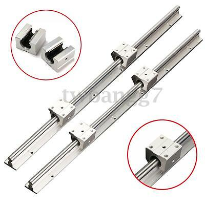 12MM SBR12-600mm Fully Rails Supported Linear Bearing Shaft Rod +2 SBR12UU Block